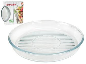 Форма стеклянная для выпечки с рифленым дном 1720мл Borcam Grill