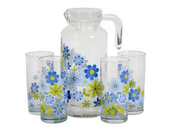 Набор Spring графин и 4 стакана