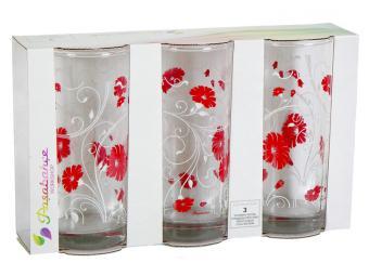 Набор стаканов ''Serenade Red'' 3шт 290мл