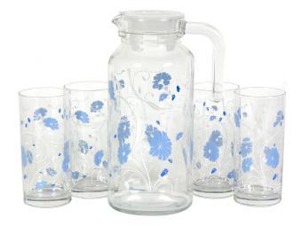 Набор Blue serenade графин и 4 стакана