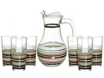 Набор 7пр кувшин и 6 стаканов стиль №2 Кофе