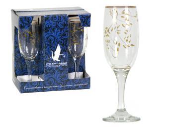 Набор Колосок 6 бокалов для шампанского 190мл