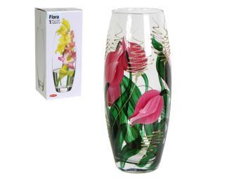 Ваза флора 26см с росписью Тюльпан