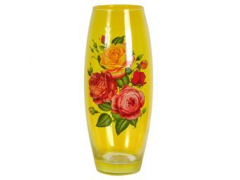 Ваза флора 26см с росписью Цветы