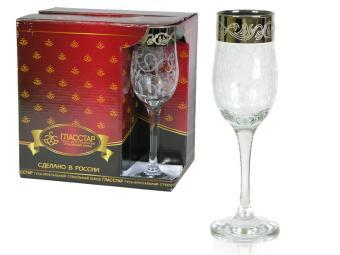 Набор бокалов для шампанского Вдохновение 200мл гравировка и напыление