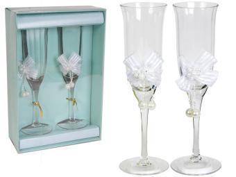 Набор фужеров 2 шт Свадьба стекло