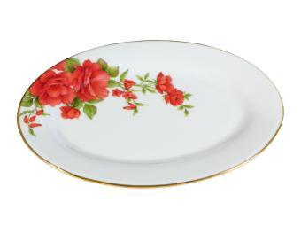 Блюдо овальное 22,5см Розы-3
