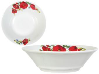 Салатник 1150см3 Маки красные форма ''Идиллия''