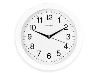 Часы настенные кварцевые круглые Белые