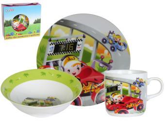 Набор детской посуды Гонки 3 предмета С024 23065