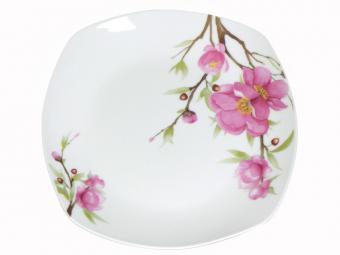 Тарелка 9,5'' 24см мелкая Орхидея квадр. (49878)
