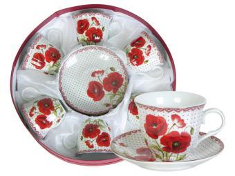 Чайный набор 12пр в круглой коробке (47980)