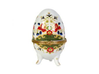 Шкатулка Яйцо Цветы 8см