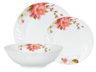 Набор столовой посуды 13пр стекло Цветок