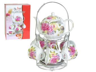 Чайный набор с чайником на метал подставке CM-F13MS-011