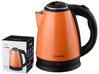 Чайник электрический 1,8л Hottek нержавеющая сталь 1800Вт оранжевый