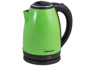Чайник электрический 1,8л Homestar HS-1010 стальной зеленый