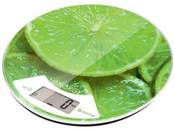 Весы кухонные ENERGY EN-403 Лайм круглые