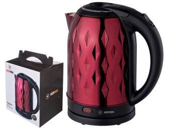 Чайник 2л нерж.сталь Hottek 2200вт (красный)