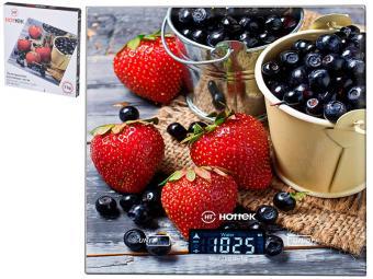 Весы кухонные до 7кг ''Ягоды'' Hottek HT-962-027 18*20см
