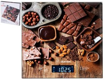Весы кухонные до 7кг ''Шоколад'' Hottek HT-962-026 18*20см