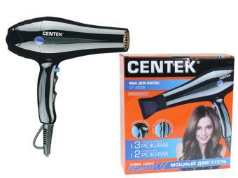 Фен Centek (черный) 2200Вт холодный обдув, концентратор
