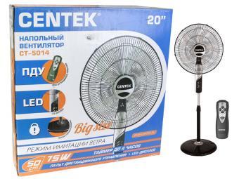 Вентилятор напольный Centek CT-5014 (черный) пульт, таймер