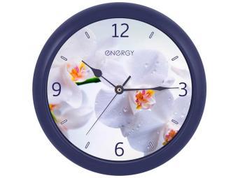 Часы настенные кварцевые ENERGY EC-110 Орхидея