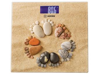 Весы напольные ''Ножки на песке'' Hottek HT-962-008 30*30см до 180кг