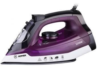 Утюг Hottek HT-955-004 2200вт, антипригарная подошва (цвет свекольный)