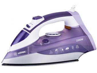 Утюг Hottek HT-955-001 2200вт, керамическая подошва (цвет фиолетовый)