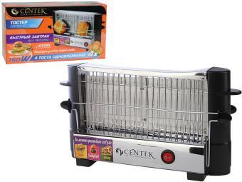 Тостер Centek 750Вт 4 тоста, внешний зажим для всех видов хлеба