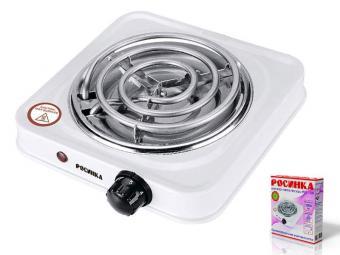 Плитка электрическая одноконфорочная 1000 Вт РОС-501 белая