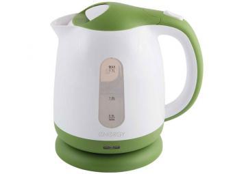 Чайник эл. 1,7л пластик ENERGY E-293 бело-зеленый