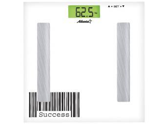 Весы напольные электронные до 150кг анализатор организма ATH-6161 white