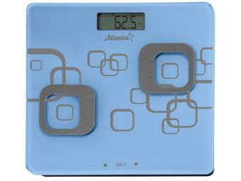 Весы напольные электронные до 150кг анализатор организма ATH-6162 blue