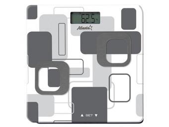 Весы напольные электронные до 150кг анализатор организма ATH-6162 gray