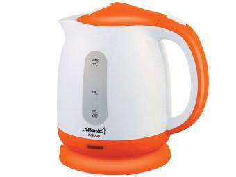 Чайник эл. 1,7 пластик бело-оранжевый 190828