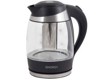 Чайник электрический 1,8л ENERGY E-289 стекло, 2 в 1