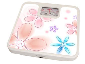 Весы напольные механические 120кг Цветочки