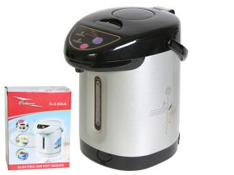 Чайник термос термопот OCTAVO 3л серебро/черный