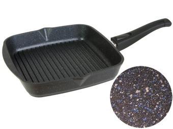 Сковорода гриль 26*26см квадр съемная ручка Гранит star