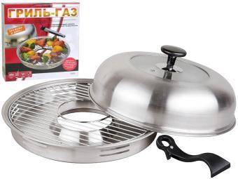 Сковорода гриль-газ D-520 нержавеющая сталь