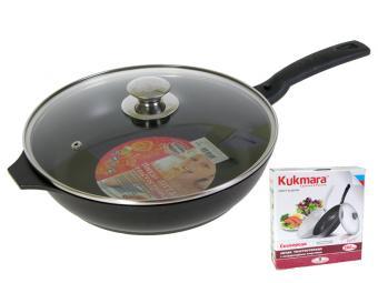 Сковорода 26см с крышкой и съемной ручкой Kukmara