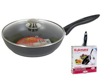 Сковорода 24 см М с утолщенным дном Кукмор