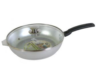Сковорода со съемной ручкой и стеклянной крышкой 26см Kukmara Kukmara