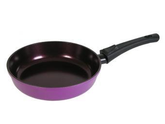 Сковорода 26см съемная ручка керамическое покрытие сиреневая
