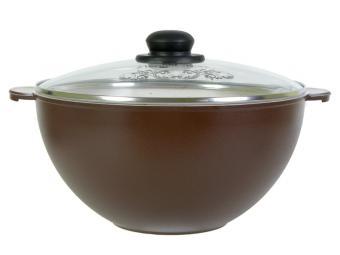 Казан 6л для плова коричневый