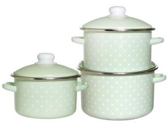 Набор кастрюль ''Зеленый чай''