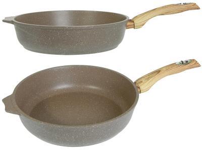Сковорода 24см АП Гранит brown